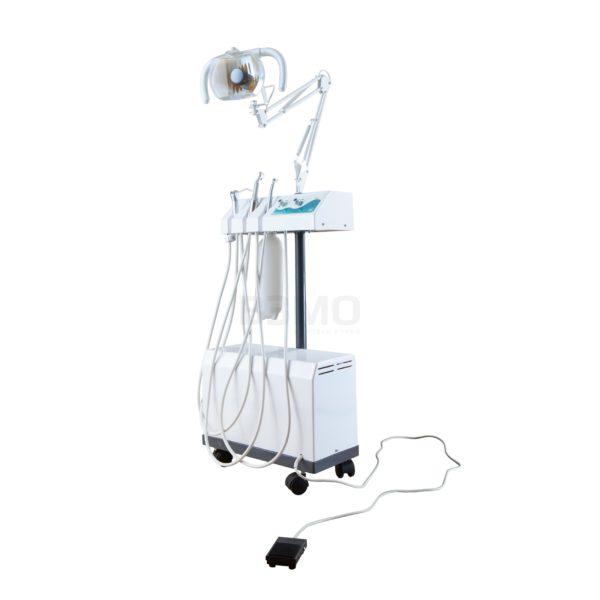 Бормашина передвижная комбинированная БПК-02 предназначена для терапевтических и ортопедических работ в условиях стоматологических поликлиник, больниц и других лечебных учреждений