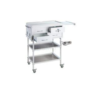 Стол инструментальный процедурный специальный СИПС-М - это крупный, вместительный столик для размещения инструмента, лекарственных препаратов и приборов